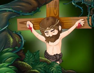A cross at the rainforest