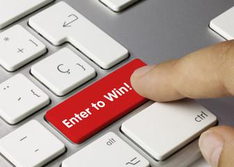 Enter to win! keyboard key