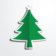 Christmas tree paper art work