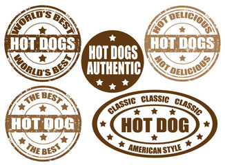 Hot dogs stamps