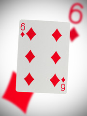 Playing card, six