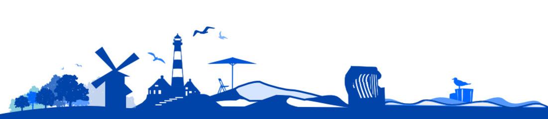 Küste Silhouette Meer