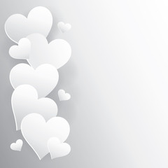 hearts background with shadow