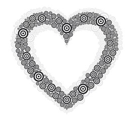 heart black circle