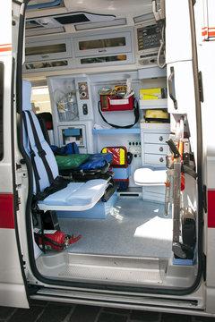 Interior ambulance