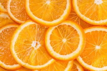 Fruit background with oranges.