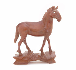 Antique Wooden Statue of a Horse