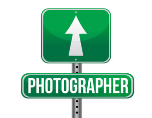 photographer road sign illustration design