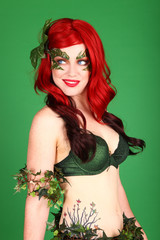 Superhero Real Life Poison Ivy Woman