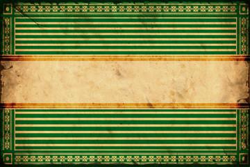 Vintage Label - Grüne Streifen