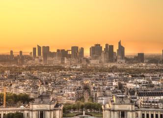 Paris Panorama at sunset, La Defense