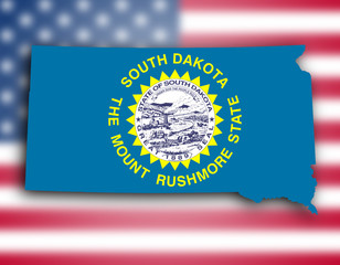 Map of South Dakota