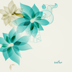 Fototapete - Retro floral background vector