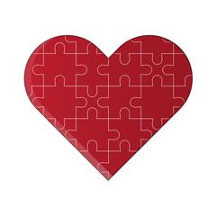 Vector puzzle heart.