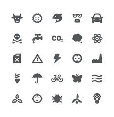 Eco energy icon set