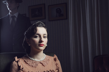 1950s woman portrait