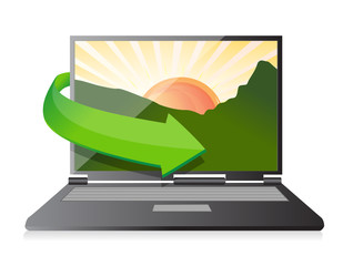 Laptop illustration design isolated