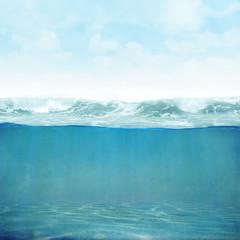 Fototapete - Himmel Wasser vintage Hintergrund 3D