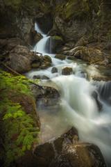 Mountain spring/creek waterfalls