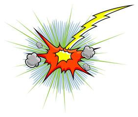 Comic Explosion Vector Graphic