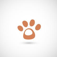 dog paw icon vector