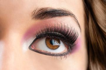 Macro close up of female eye.