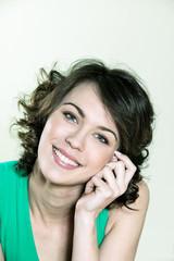 cute brunette young woman portrait