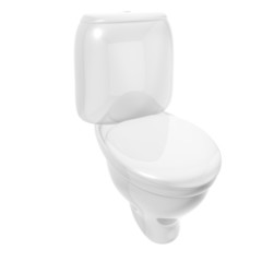 Isolated toilet bowl