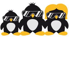 Cool Penguin Family