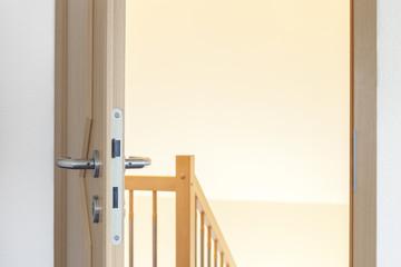 Ausgang Holz-Tür offen