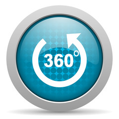 panorama blue circle web glossy icon