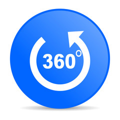 panorama blue circle web glossy icon