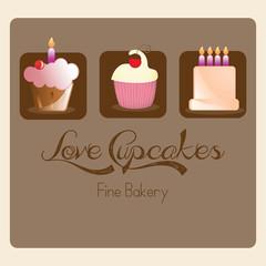 Cake  & Cupcakes icons