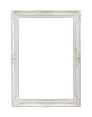 Vintage photo frame isolated on white background
