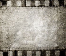 Vintage background with film flame