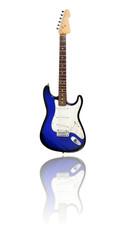 E-Gitarre mit Spiegelung, blueburst