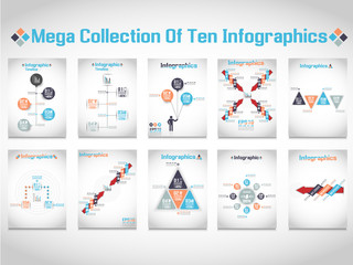 INFOGRAPHICS MEGA COLLECTIONS OF TEN MODERN ORIGAMI BUSINESS