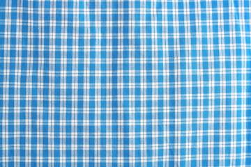 tela de cuadros azules y blancos