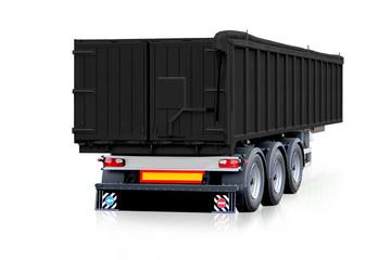 Black trailer, truck