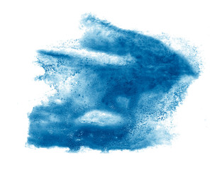 blue macro spot blotch texture isolated on a white background