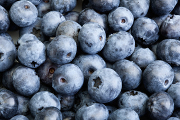 Closeup background blueberries