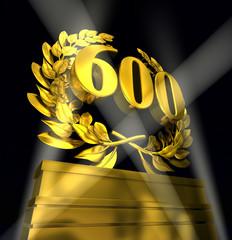 600 number laurel wreath