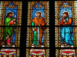 Canvas Prints Stained Saints - stained glass window