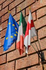 Bandiere di Europa Italia Piemonte