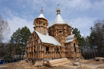the construction of the church