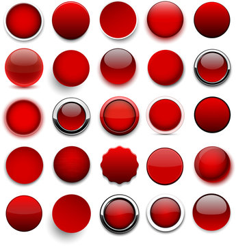 Round red icons.