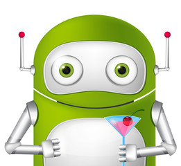 Photo sur Toile Robots Cute Robot