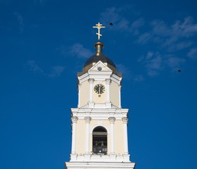 Bell tower and birds