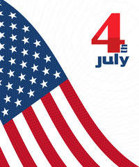 4th of july design card