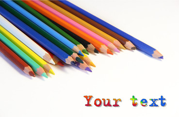bunch of colored pencils.